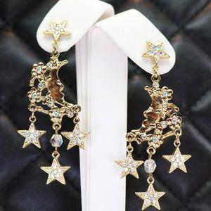 ✨🌙 Magical Moon & Star Earrings by Kirks Folly 🌙